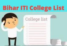 Bihar ITI College List
