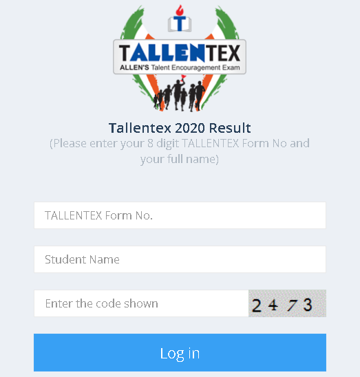 TALLENTEX Result Login Section