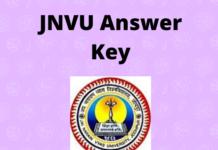 JNVU Answer Key