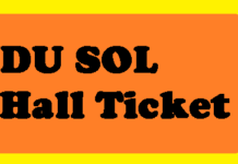 DU SOL Hall Ticket