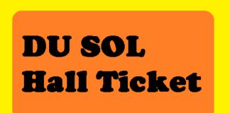 DU SOL Hall Ticket