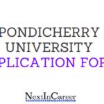 Pondicherry University Application Form