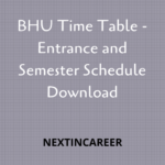 BHU Time Table