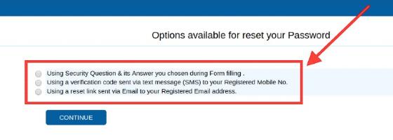 Reset JEE Main Password