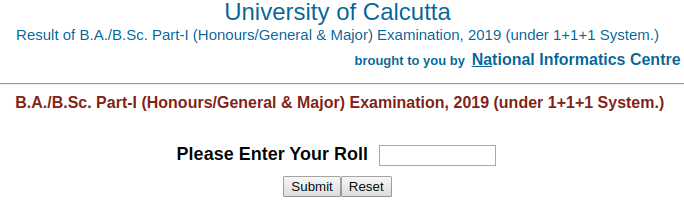 Calcutta University Result