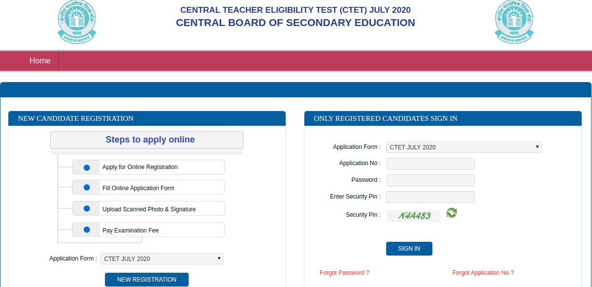 CTET Registration