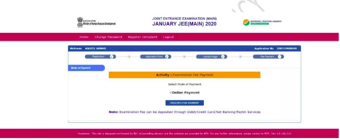 JEE Main 2021 Application Fee Payment