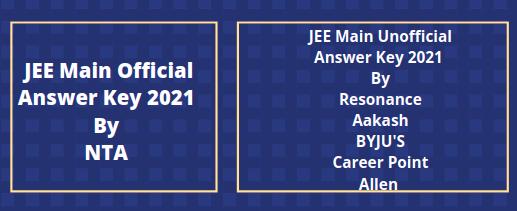 JEE Main 2021 key