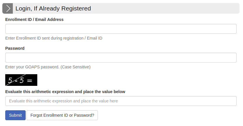 GATE Registration Page