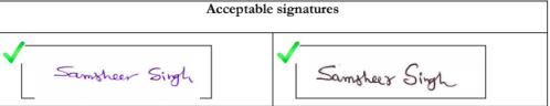 GATE Signature Sample