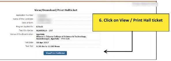 SRMJEEE Print Hall Ticket