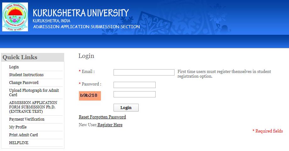 KUK Application Form