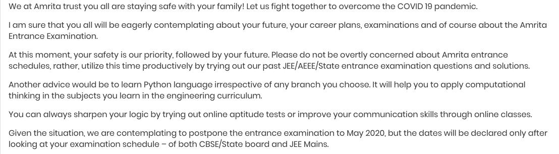 AEEE 2020 Notice