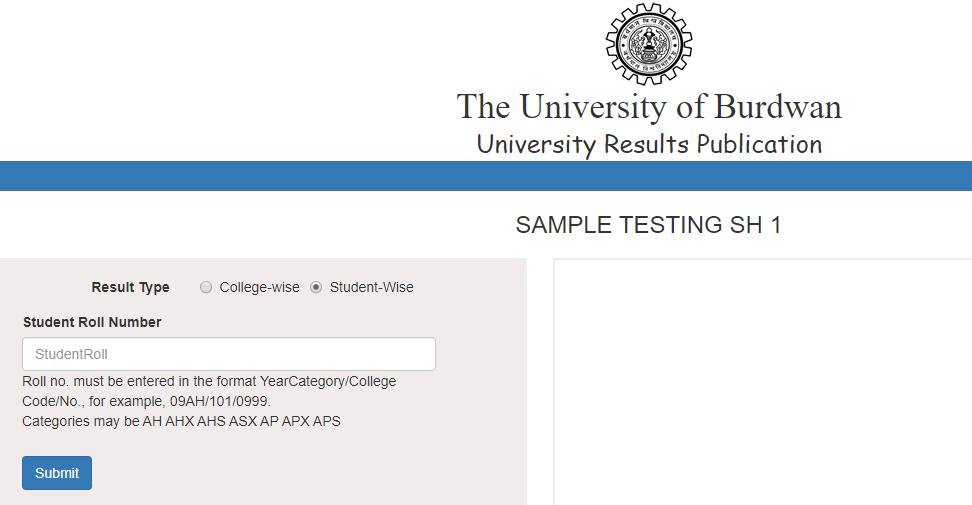 Burdwan University Result