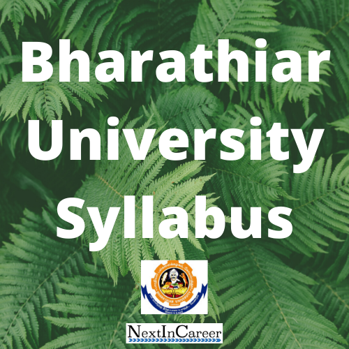 Bharathiar University Syllabus 2020 Available Ug Pg Distance Education