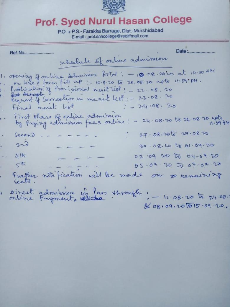 Narul Hasan Merit List