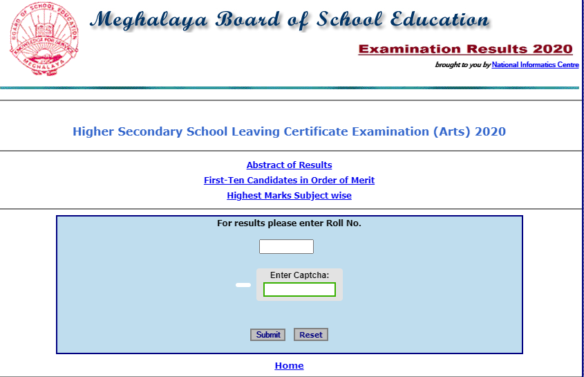 MBOSE Arts 12th Result