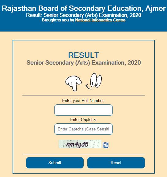 Rajasthan University 12th Arts Result
