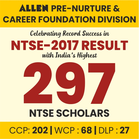 ALLEN Rocks in NTSE Stage-2 2017
