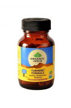 Organic India Turmeric Formula Capsules rich in Curcumin