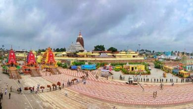 Photo of Rath Yatra: Chariots Roll On Puri Grand Road Without Devotees