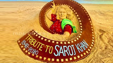 Photo of Sandy Tribute To Saroj Khan From Sudarsan Pattnaik