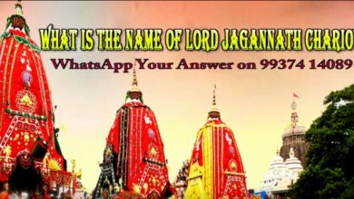 Photo of What Is The Name Of Lord Jagannath's Chariot ?