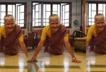 Photo of Milind Soman's Mom Pulls Off 15 Push-Ups In Saree At The Age Of 81