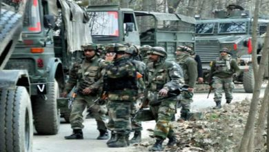 Photo of Army Convoy Attacked In Kashmir