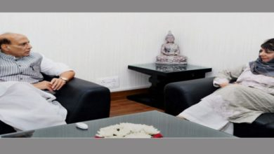 Photo of Mehbooba Meets Rajnath, Says China Meddling In Kashmir
