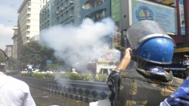 Photo of Tear Gas, Water Cannons Used On Left Protesters In Kolkata
