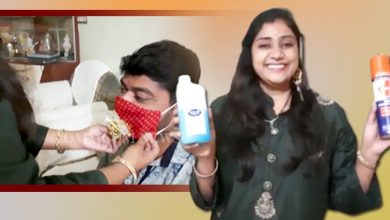 Photo of Rakhi With A Twist: Woman Ties Mask To Brother, Gets Sanitizer As Gift