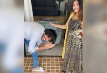 Photo of Kartik Aaryan Touches Younger Sister's Feet, Seeks Rakhi Blessings