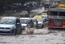 Photo of Heavy Rains Pound Mumbai, Landslide Hits Road, Rail Traffic