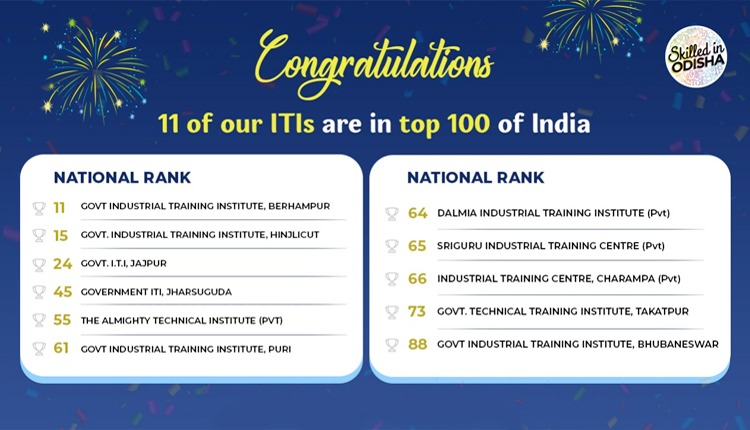 Odisha's 11 ITI Colleges Make It To Top 100 ITIs Across India