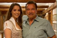 Photo of Arnold Schwarzenegger, Daughter Christina Take A Bike Spin