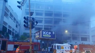 Photo of 7 Dead, 10 Injured As Fire Breaks Out At Hotel Turned Covid Care Centre In Andhra