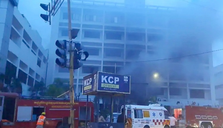 fire at hotel turned Covid care centre in Andhra