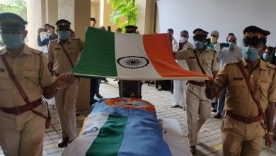Photo of Sathe Accorded Hero's Farewell, Cremated With Full State Honours