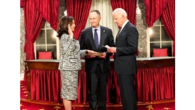 Photo of Biden, Harris Appear Together For 1st Time As Running Mates