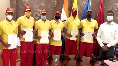 Photo of 6 Firemen Felicitated For Donating Plasma To Treat Covid Patients