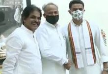 Photo of Happy Ending: Gehlot Meets Pilot With Handshake And Smile