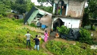 Photo of Heavy Rains In Odisha: Dilapidated Building In Baripada Collapses