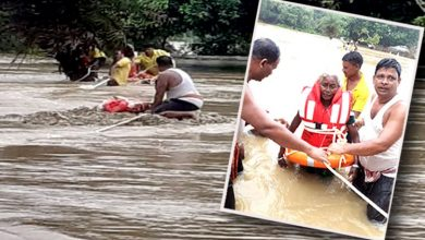 Photo of 3 People Rescued In Separate Incidents Of Being Trapped In Mahanadi River