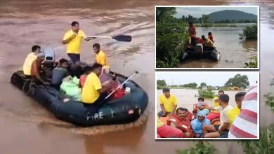 Photo of Odisha Fire Service Teams Carry Out Rescue & Relief Ops In Flood Affected Areas