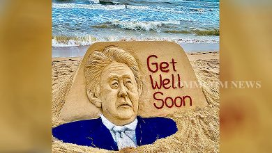 Photo of Sudarsan Pattnaik Creates Sand Art Of Shinzo Abe At Puri Beach