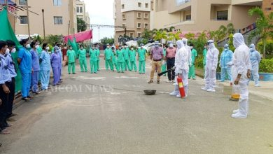 Photo of Fire Service Dept Conducts Fire Drills At SUM, KIMS, Aditya Ashwini Hospitals