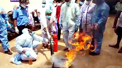 Photo of Cuttack: Mock Fire Safety Drill Conducted At SCB Hospital