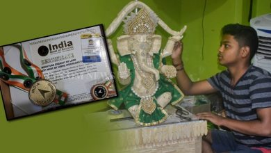 Photo of Majestic Ganesh Idol From Ice-Cream Sticks, Puri Boy To Feature In Asia Book Of Records