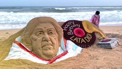 Photo of Sudarsan Pattnaik Conveys Sandy Bday Wishes To Lata Mangeshkar